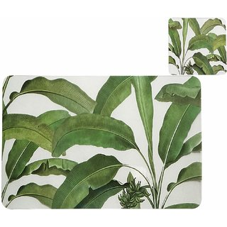 CASA-NEST PVC Printed Placemats for Dining Table and Kitchen (45 x 30 cm) Set of 6 Pieces Hot Vessels Transparent Dining Mat