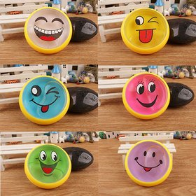 REGAL Crystal Smiley Kits Supplies Clay Magic Emoji Slime Putty Toys for Kids (Multi Color) (Set of 3)