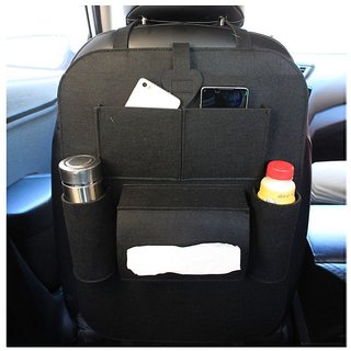 House Of Quirk Multi Pocket Organizer for Front Seat Side Black