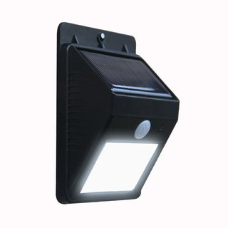 S4D Weatherproof Wireless Security Solar Motion Sensor LED Wall Light by Leeonzi