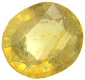 Shoppingstore 5.25 Ratti Yellow Topaz (Pokhraj) Gemstone