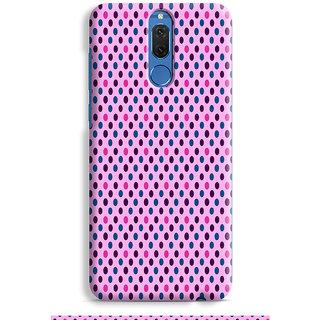 PrintVisa White Dot Pattern Designer Printed Hard Back Case For Honor 9i - Multicolor