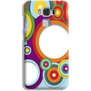 PrintVisa Cool Patterns Design Art Shapes Sundar Designer Printed Hard Back Case For Asus Zenfone 3 Max ZC 553KL - Multicolor
