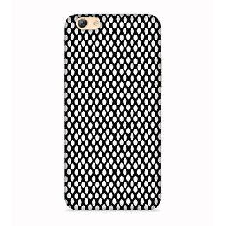 PrintVisa White Dot Pattern Designer Printed Hard Back Case For Oppo F1s - Multicolor