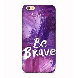 PrintVisa Pupple Warrior Brave Be I Was Bahadur Designer Printed Hard Back Case For Oppo F3 - Multicolor