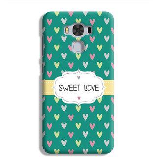PrintVisa Heart Red Love Lines Pattern Design Lovely Designer Printed Hard Back Case For Asus Zenfone 3 Max ZC 553KL - Multicolor