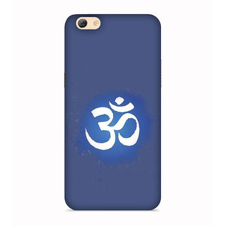 PrintVisa Om Hindu Shiv Shivay Shankar Rudra Designer Printed Hard Back Case For Oppo F3 - Multicolor