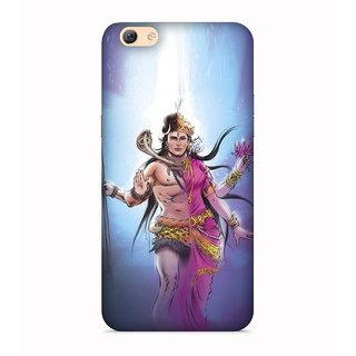 PrintVisa Shiva Shakti Designer Printed Hard Back Case For Oppo F1s - Multicolor