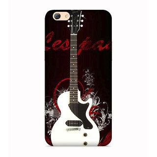 PrintVisa Guitar Symbol Designer Printed Hard Back Case For Oppo F1s - Multicolor