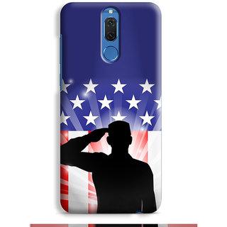 PrintVisa Saluting Man Art Person Designer Printed Hard Back Case For Honor 9i - Multicolor
