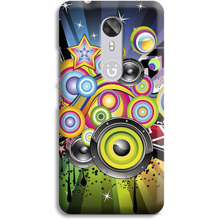 PrintVisa Colorful Rangin Dots Round Dol Rainbow Designer Printed Hard Back Case For Gionee A1 - Multicolor