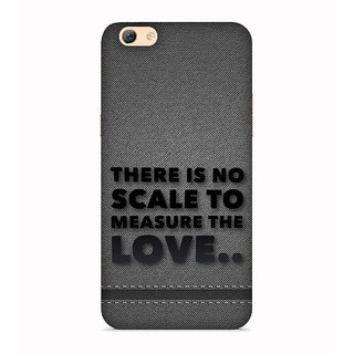 PrintVisa There is No Scale To Measure Love Grey Mobile Case Designer Printed Hard Back Case For Oppo F1s - Multicolor