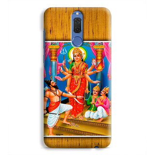 PrintVisa Godess Hinglaj Mata With Parshuram Designer Printed Hard Back Case Cover For Honor 9i - Multicolor