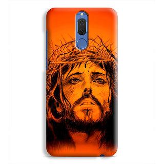 PrintVisa Jesus Christ Image Designer Printed Hard Back Case Cover For Honor 9i - Multicolor