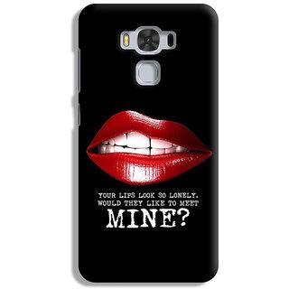 PrintVisa Lips Honth Teeth Baby Smile Incest Cool Quote Show Designer Printed Hard Back Case For Asus Zenfone 3 Max ZC 553KL - Multicolor