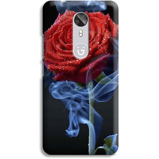 PrintVisa Rose Flowers Floral Ful Red Gulaab Aroma Smell Designer Printed Hard Back Case For Gionee A1 - Multicolor