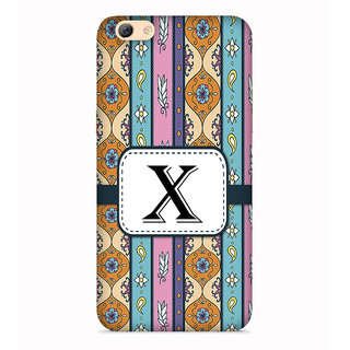PrintVisa Floral Pattern Design Alphabet X Designer Printed Hard Back Case For Oppo F3 - Multicolor