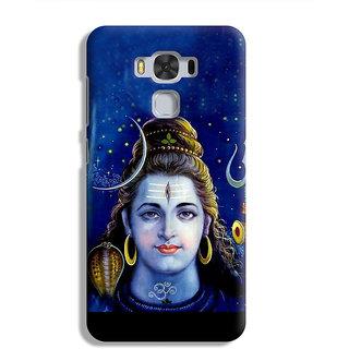 PrintVisa Mahadev Shiv Shankar God Designer Printed Hard Back Case For Asus Zenfone 3 Max ZC 553KL - Multicolor