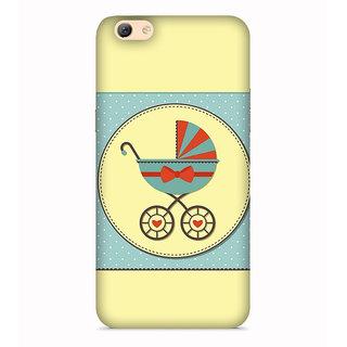 PrintVisa Child Trolley Art Designer Printed Hard Back Case For Oppo F1s - Multicolor