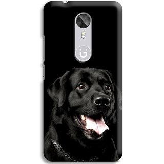 PrintVisa Black Dog Rottweiler Designer Printed Hard Back Case Cover For Gionee A1 - Multicolor