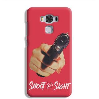 PrintVisa Gun Hand Fist Tight Tight Shoot At Site Mobile Cover Case Designer Printed Hard Back Case For Asus Zenfone 3 Max ZC 553KL - Multicolor