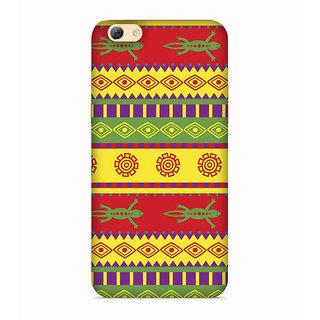 PrintVisa Patterns Design Egypt Ethnic Engravings Designer Printed Hard Back Case For Oppo A71 - Multicolor