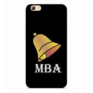 PrintVisa Bell Symbol MBA Degree Designer Printed Hard Back Case For Oppo A57 - Multicolor