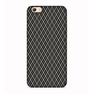 Printvisa Check Line Pattern Designer Printed Hard Back Case For Oppo A83 -