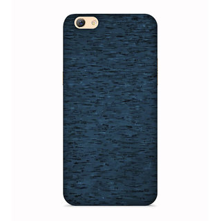 PrintVisa Gradient Blue Bluish Blackish Designer Printed Hard Back Case For Oppo A57 - Multicolor