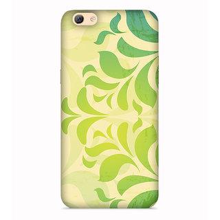 PrintVisa Patterns Designs Cool Leaves Leafe Designer Printed Hard Back Case For Oppo A71 - Multicolor