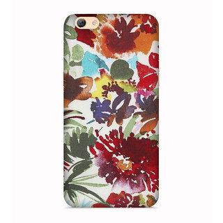 PrintVisa Flowers Theme Floral Love Lovely Gift Designer Printed Hard Back Case For Oppo A57 - Multicolor