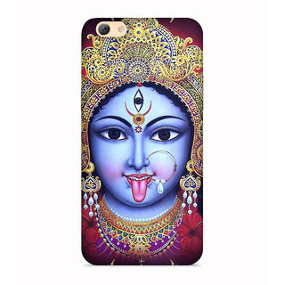 PrintVisa Kali Mata Durga Maa Anger Designer Printed Hard Back Case For Oppo A83 - Multicolor