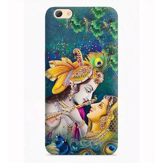 PrintVisa Radha Krishna Pure Love Designer Printed Hard Back Case Cover For Oppo A71 - Multicolor