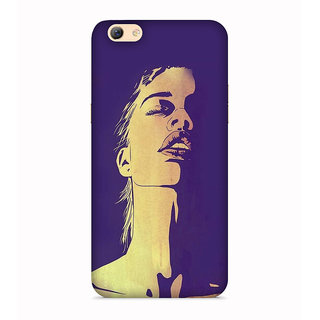 PrintVisa Person Expression Gambhir Thinking Designer Printed Hard Back Case For Oppo A71 - Multicolor