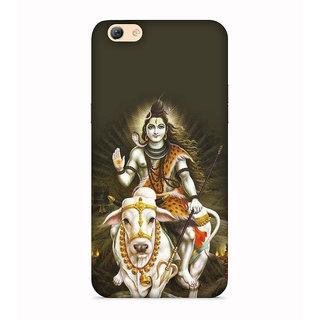 PrintVisa Mahadev Shiv Shankar God Designer Printed Hard Back Case For Oppo A71 - Multicolor