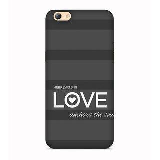 PrintVisa Love Anchors The Soul Hebrews Mobile Cover Designer Printed Hard Back Case For Oppo A83 - Multicolor