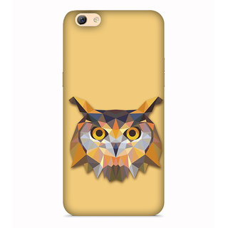 Printvisa Owl Mask Orange Yellow Wild Designer Printed Hard Back Case For O