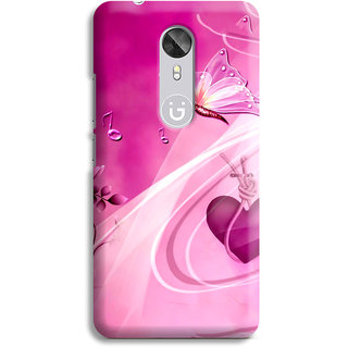 PrintVisa Purple Hearts And Lovely Beautiful Butterflies Designer Printed Hard Back Case Cover For Oppo A83 - Multicolor