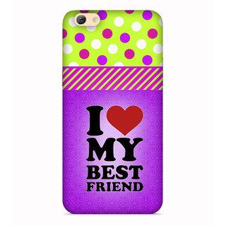 PrintVisa Best Friend Quote Violet Designer Printed Hard Back Case For Vivo V5 - Multicolor