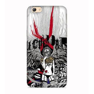 PrintVisa Lady Girl Rock Rockig Designer Printed Hard Back Case For Vivo V5 - Multicolor