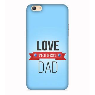 PrintVisa Best Dad Quote Son Daughter Love Designer Printed Hard Back Case For Vivo V5 - Multicolor