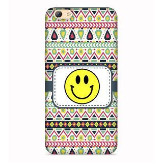 PrintVisa Multicolor Ethnic Design Smily Face Designer Printed Hard Back Case For Oppo A83 - Multicolor