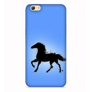 PrintVisa Horse Blue Black Ghoda Fast Tez Designer Printed Hard Back Case For Vivo V5s - Multicolor