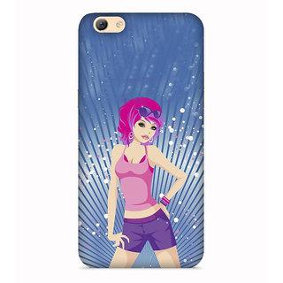PrintVisa Fashion Girl Garly Beautiful Cool Designer Printed Hard Back Case For Vivo Y53 - Multicolor