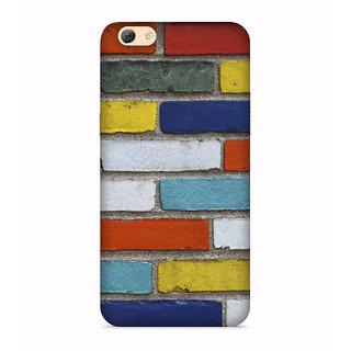 PrintVisa Colorful Bricks Cool Design Patterns Wall Home Designer Printed Hard Back Case For Vivo Y66 - Multicolor