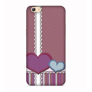 PrintVisa Hearts Brown Cake Lines Beautiful Love Lovely Designer Printed Hard Back Case For Vivo Y53 - Multicolor