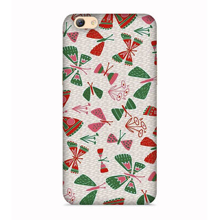 PrintVisa Natural Nature Butterfly Beautiful Leaves Designer Printed Hard Back Case For Vivo Y55 - Multicolor