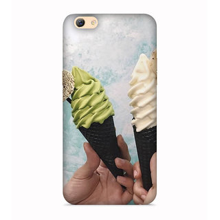 PrintVisa Ice Cream Hand Friends Freindship Dost Tasty Mobile Designer Printed Hard Back Case For Vivo Y53 - Multicolor