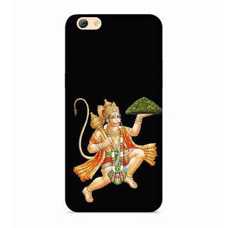 PrintVisa Animated Religious Hanuman Standing Designer Printed Hard Back Case For Vivo Y66 - Multicolor