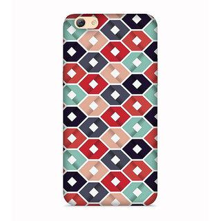 PrintVisa Hexagon Angles Colorful Lovely Designer Printed Hard Back Case For Vivo Y66 - Multicolor